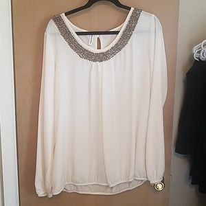 Cream beaded blouse